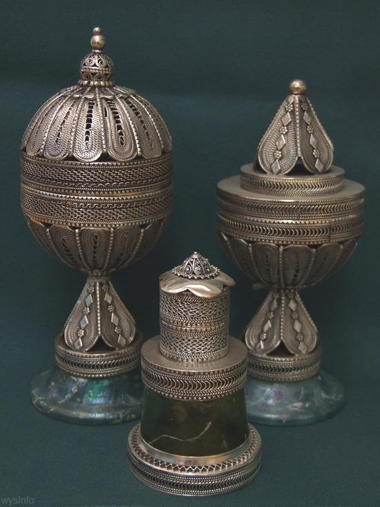 Jewish Yemenite Shabbat Perfume/Spice Holders