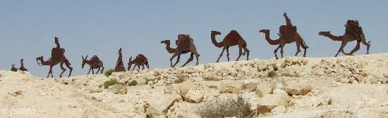 Camel Convoy Sculpture in Avdat