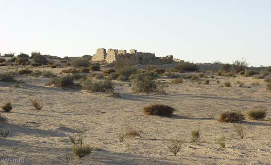 Remains of buildings in Halutza