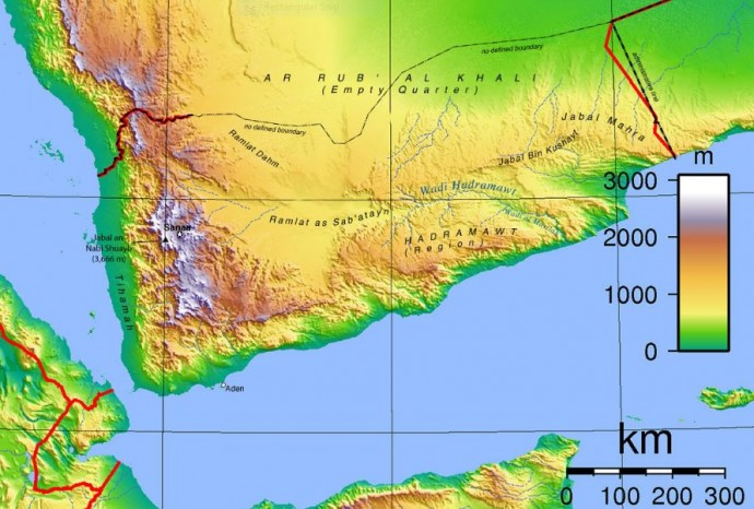 yemen_topogtaphic_map