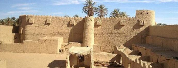 Remains of ancient Teima - photo from Google Earth