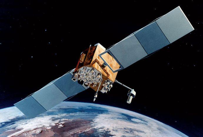 Artist Interpretation of GPS satellite; image courtesy of NASA