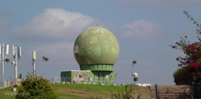 Radar station for tracking bird in Latrun, Israel