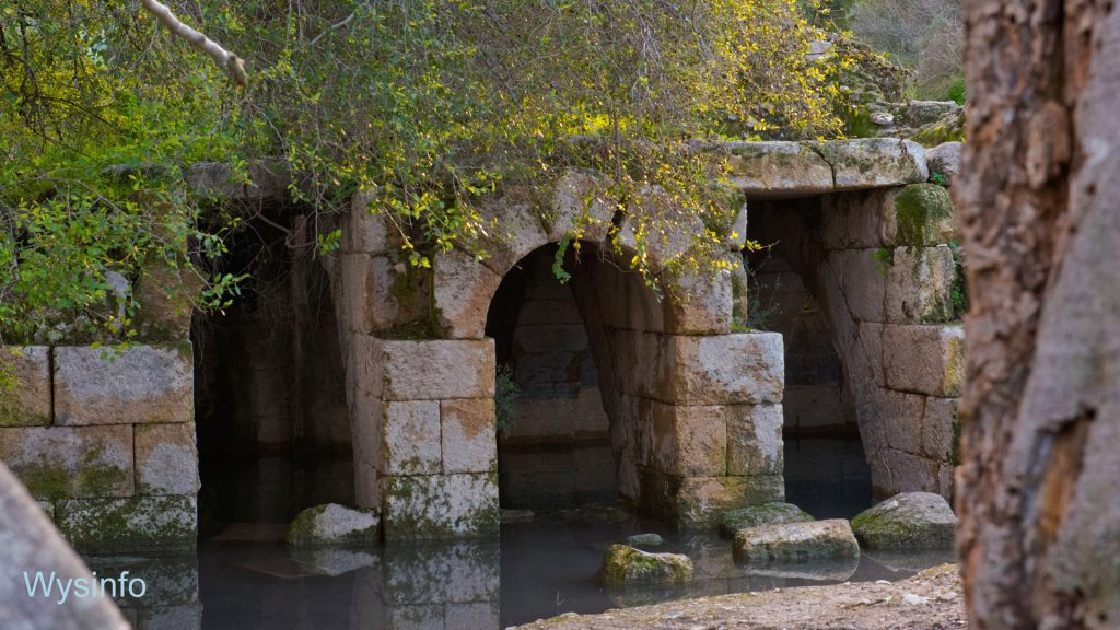 Roman arches built on natural spring water in Ayalon Park