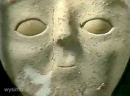 Head molded in clay - archaeological find by the Dead Sea