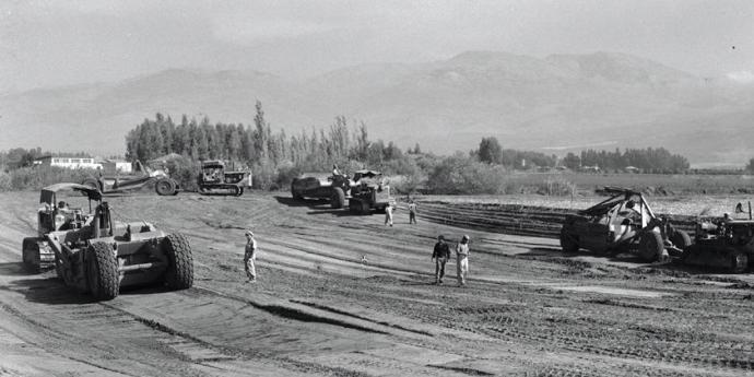 Drying the Swamps of Hula Valley - 1954