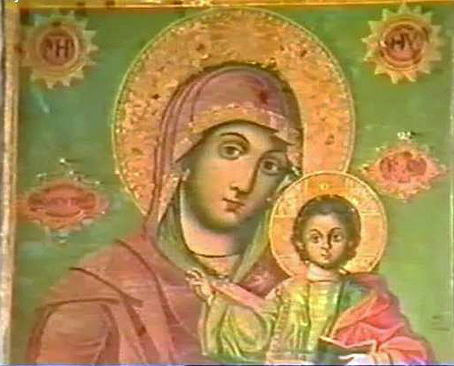 Mother Mary - Wall painting in Mar-Saba Monastery