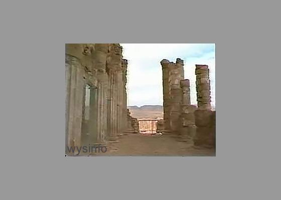 Pillars in the Balcony of Herod's Palace in Masada