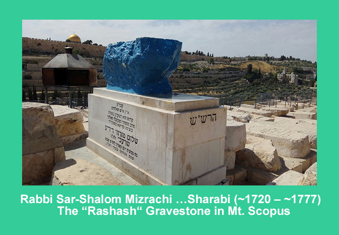 Gravestone of Rabbi Sar-Shalom Mizrachi (Rashash)